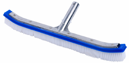 Pool wall brush with aluminium back - 18""